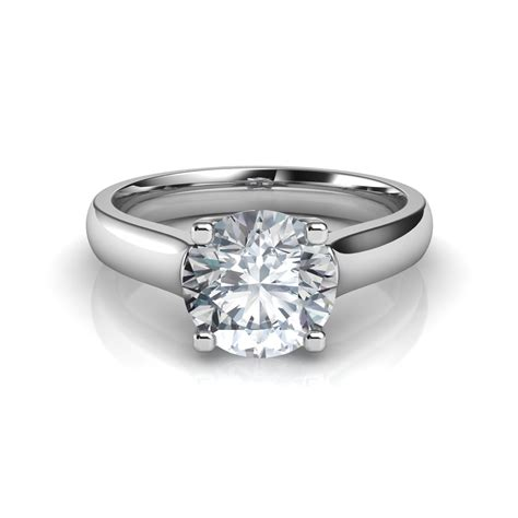 cross prong engagement ring