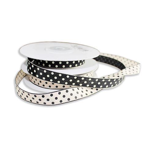Ribbon Dot Black black polka dot ribbon with dots