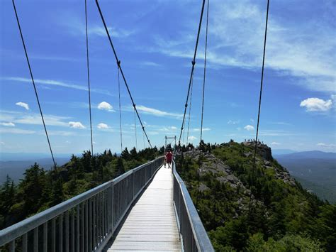 mile high swinging bridge north carolina hikes grandfather mountain mile high
