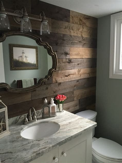 green and brown bathroom diy barnboard with a rustic cottage theme i think i
