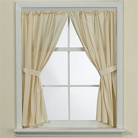 vinyl bathroom window curtain buy bone vinyl bathroom window panel pair from bed bath
