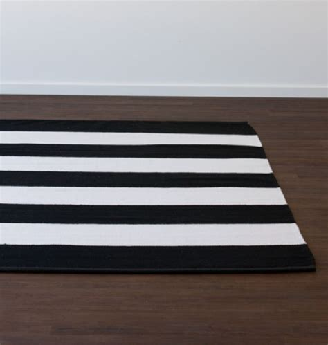 white striped rug band stripe black rug