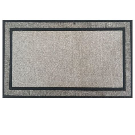 Fabric Door Mats Trafficmaster Racetrack Gray 18 In X 30 In Rubber