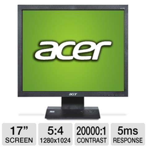 Monitor Lcd Acer V173 acer v173 djb 17 lcd monitor 1280x1024 20000 1 dynamic 5ms vga black at tigerdirect