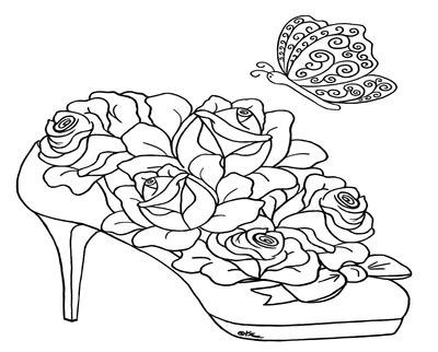 intricate rose coloring pages digital coloring butterflies instant or page for adults