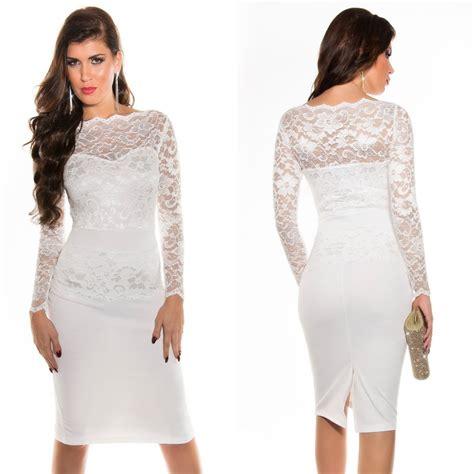 Robe Dentelle Femme - robe femme tendance en dentelle taly couleur blanc