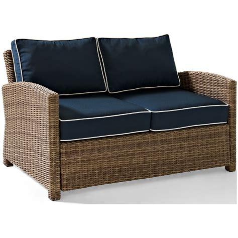 outdoor cushions wicker loveseat crosley biltmore outdoor wicker loveseat with cushions