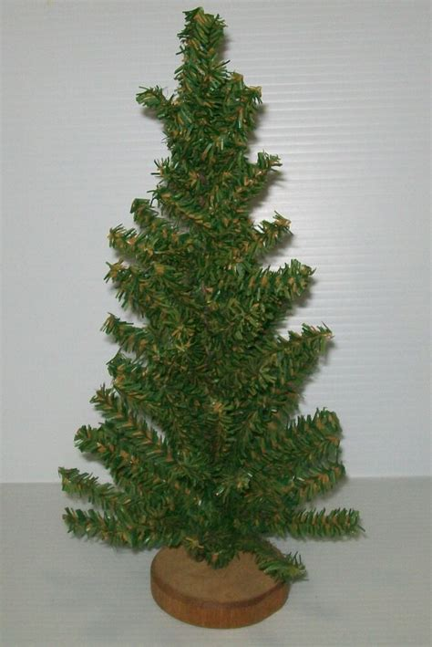 faux tiny christmas trees vintage dept 56 artificial small countertop tree wood stand mini ebay