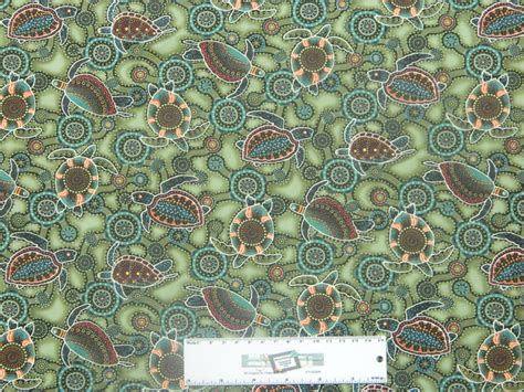Patchwork And Quilting Fabrics - patchwork quilting sewing fabric green turtles