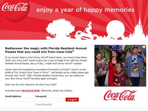 Sweepstakes Florida - enjoy a year of happy memories instant win sweepstakes florida residents only