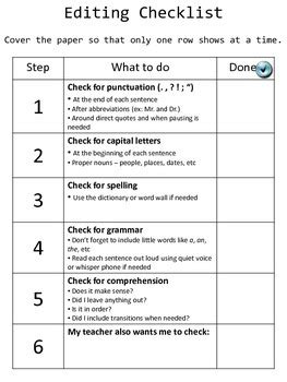 Peer Editing Checklist College Essay by Editing Peer Review Checklists By Rudolphi Tpt