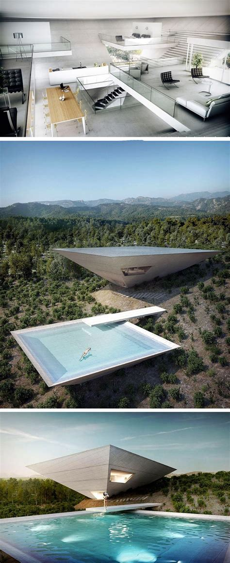 tna reveals inverted pyramid design for solo house in matarra a spain crazy on the outside yet classy on the inside the solo