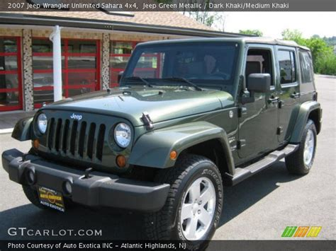2007 Jeep Wrangler Green Jeep Green Metallic 2007 Jeep Wrangler Unlimited