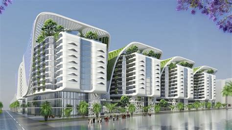 sustainable apartment design green cairo apartment block features indoor mega trees