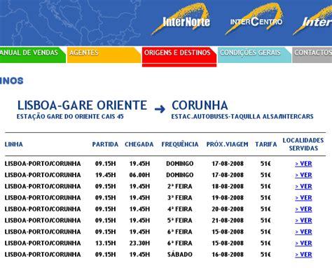 buses from porto to lisbon barlaventos travel from lisbon to la coruna