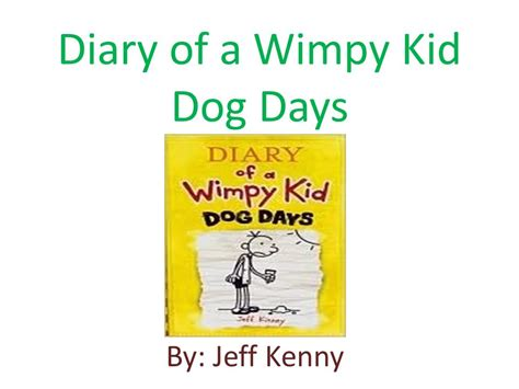 diary of a wimpy kid days book powerpoint book report ppt