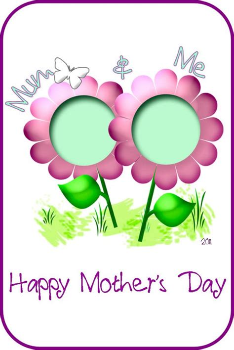 happy mothers day card template s day craft and me card be a