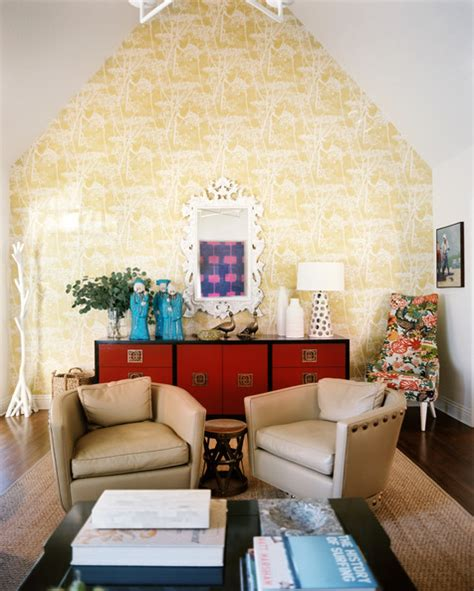Living Room Yellow Wallpaper Living Room Photos 626 Of 2498 Lonny