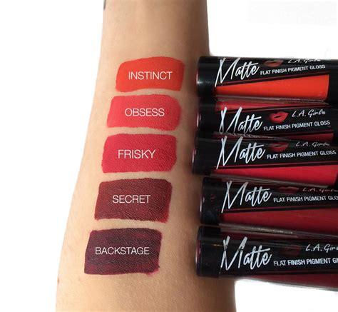 La Matte Flat Finish Gloss Original Obsess la matte liquid lipstick glam