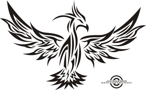 phoenix tribal tattoo designs gallery tribal bird logos