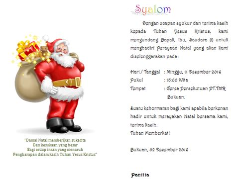 template undangan natal contoh undangan perayaan natal terbaru untuk semua gereja