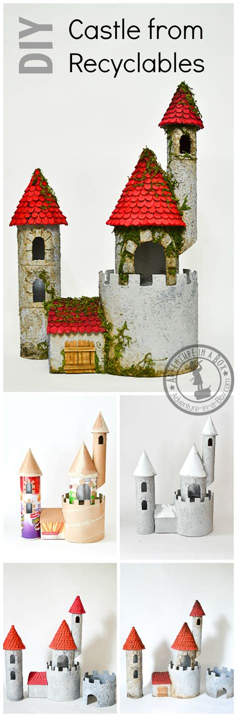How To Make A Castle Out Of Paper - diy make a castle from recyclable materials adventure in