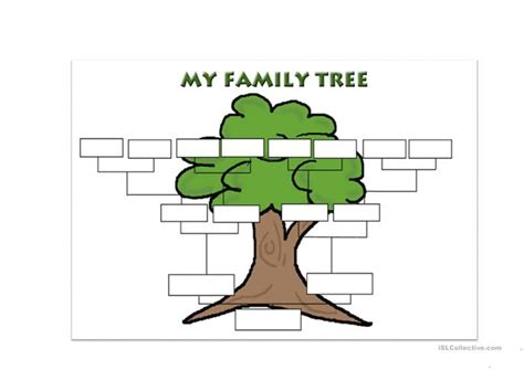free printable family tree template family tree template worksheet free esl printable
