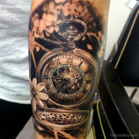 clock tattoo sleeve clock tattoos designs pictures page 15