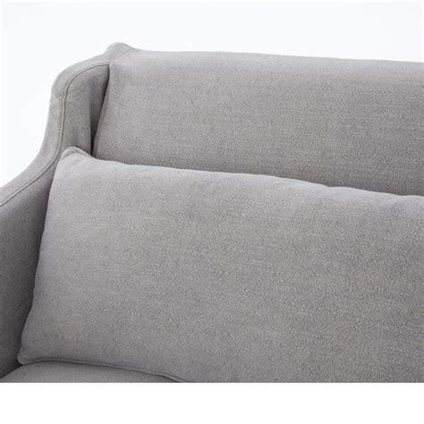 linen slipcovered sofa stratus modern classic pewter grey linen slipcover sofa
