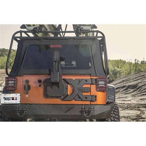 rugged ridge tire carrier rugged ridge 11546 50 spartacus hd tire carrier 07 15 jeep wrangler jk