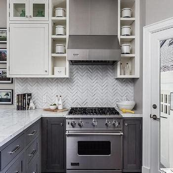 gray distressed kitchen cabinets with marble herringbone gray distressed kitchen cabinets with marble herringbone