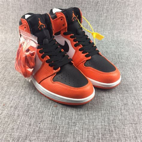orange and white nike basketball shoes cheap nike air 1 mens white black orange basketball