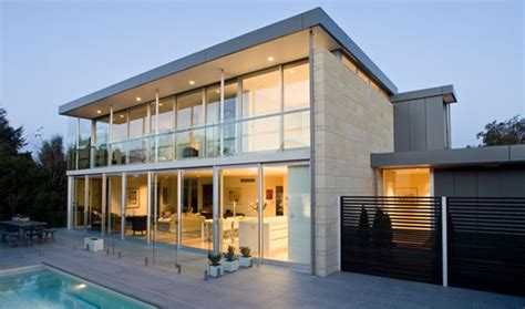 concrete structures design glass house modern house