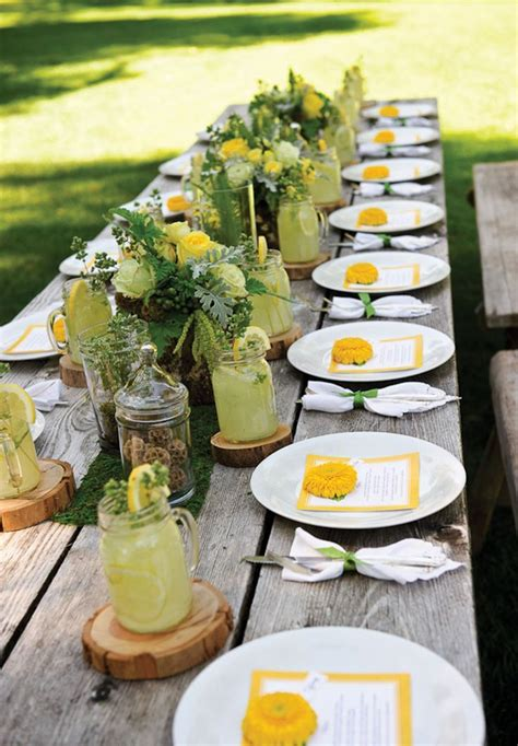 outdoor table setting country wedding table settings outdoor table setting