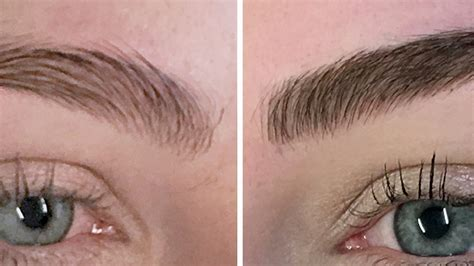 eye brow tattoo get their eyebrows tattooed