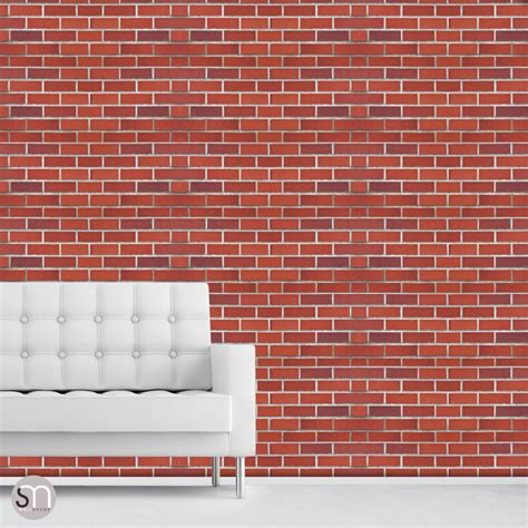removable wall adhesive red brick wall self adhesive removable wallpaper by