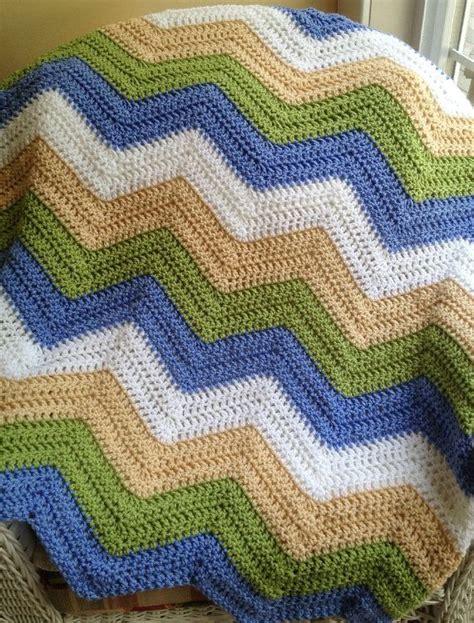 zig zag baby afghan pattern new chevron zig zag ripple baby blanket afghan wrap