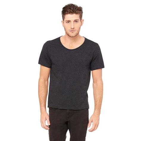 T Shirt Kaos Cotton Combed 30s Racing Line Black canvas s charcoal black triblend jersey wide neck t shirt