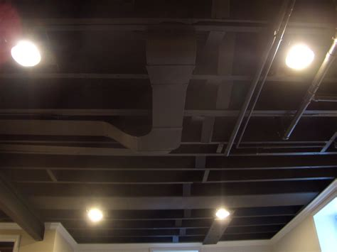 The Black Ceiling by Cool Home Creations Finishing Basement Black Ceiling