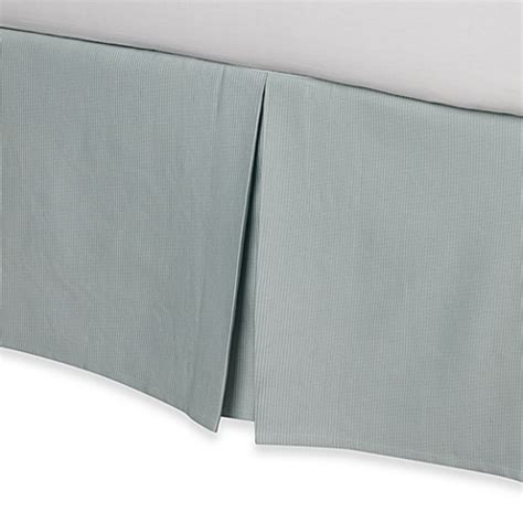 Bed Bath And Beyond Bed Skirts by Real Simple 174 Linear Bed Skirt In Aqua Bed Bath Beyond