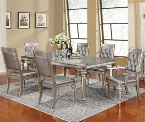 danette rectangular 7 bling dining table set with