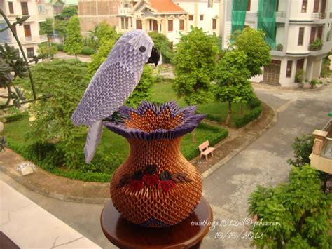 3d Origami Vase Pattern - white parrot on vase album nga 3d origami