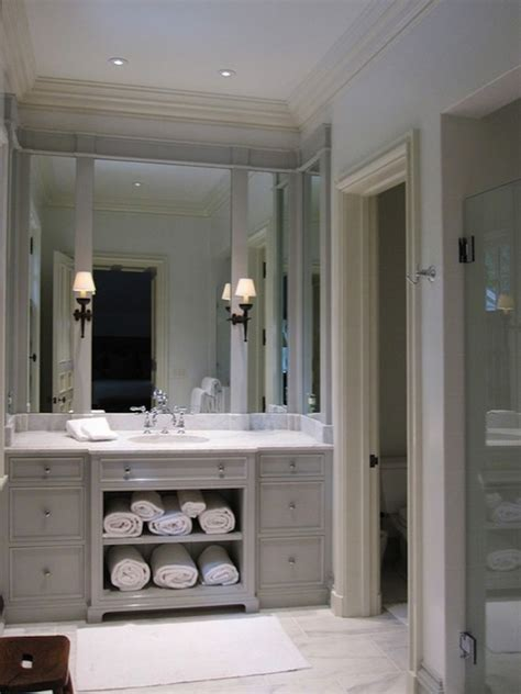 grey bathroom mirror light gray vanity transitional bathroom litchfield