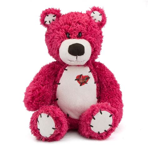 Patchwork Teddy - tender the teddy with patchwork by