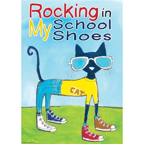 pete the cat school shoes pete the cat rocking in my school shoes positive poster