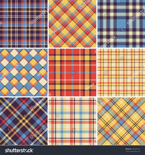 plaid pattern en espanol bright plaid patterns stock vector 102439162 shutterstock