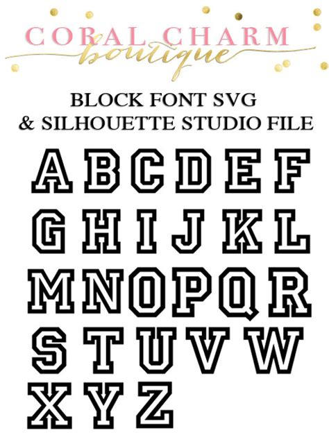 printable varsity font varsity block font files for cutting machines svg and