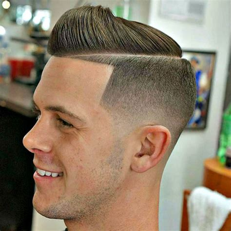 what is a boys haircut called when it is short in back and on sides and then longer on top faded tape up haircut