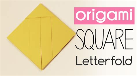 easy origami square letter fold tutorial diy back to