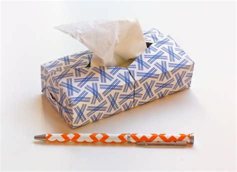 Origami Tissue - mini origami kleenex box how about orange